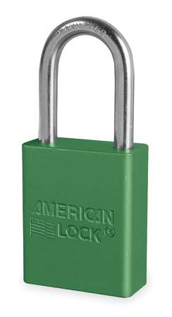 "Lockout Padlock, KD, Green, 1-7/8""H"