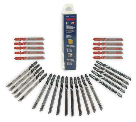 Jigsaw Blade Set, 1-1/2 In. L, T-Shank