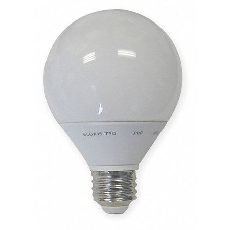 GE LIGHTING 15W,  G25 Screw-In Fluorescent Light Bulb