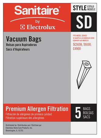 Disposable Vacuum Bag, SD, PK5