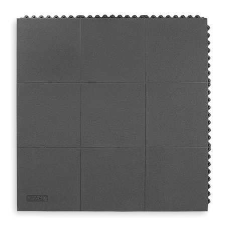 Antifatigue Mat, Black, 3ft. x 3ft.