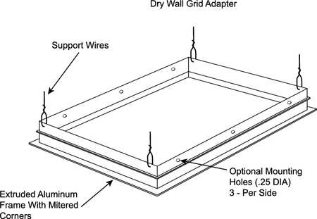 Drywall Grid Adapter Kit, F/2x4ft Troffer