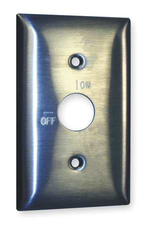 Barrell Key Wall Plate, 1 Gang, Silver
