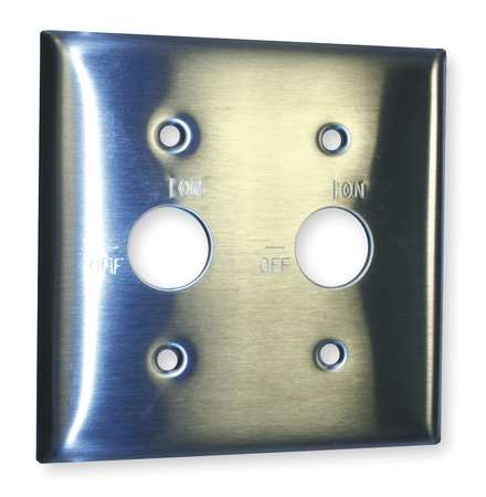 Barrell Key Wall Plate, 2 Gang, Silver