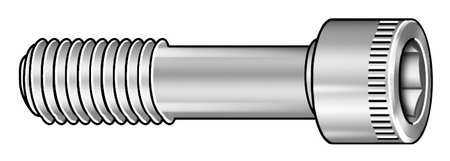 "3/8""-16 x 4"" Zinc-Plated Alloy Steel Socket Head Cap Screw,  5 pk."