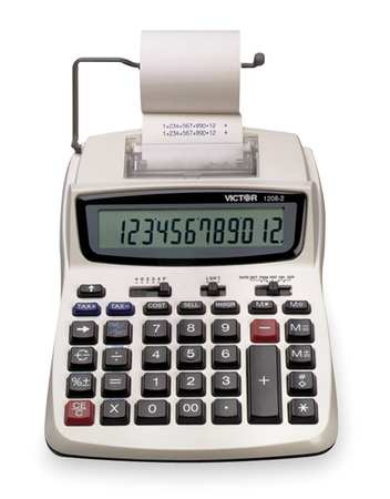 Portable Calculator, LCD, 12 Digits