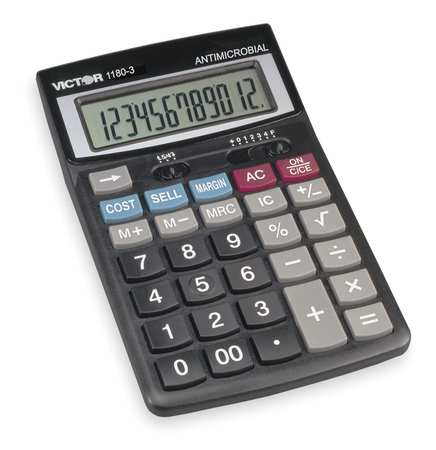 Finance Desktop Calculator, LCD, 12 Digits
