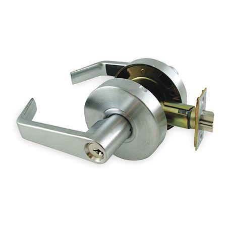 Lever Lockset, Mechanical, 1TPL Angled