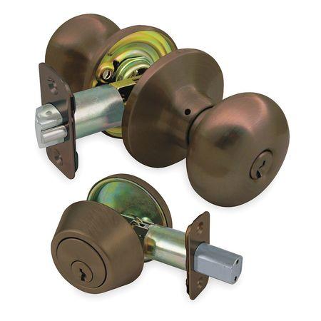 Knob Lockset, Mechanical, Entrance, Grd. 3