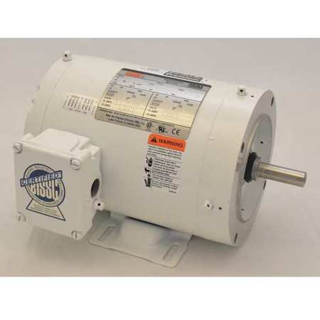 Washdown Motor, 3 Ph, TENV, 3/4 HP, 3450 rpm