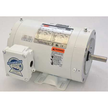 Washdown Motor, 3 Ph, TENV, 1 HP, 3520 rpm
