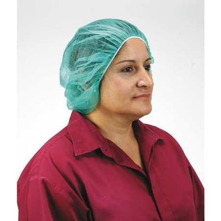 Pleated Bouffant, Green, Universal, PK100