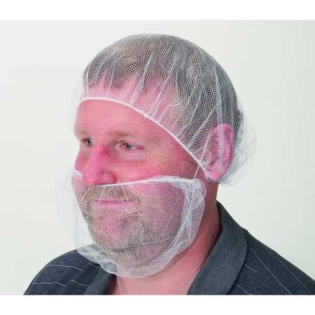 Beard Cover, White, Universal, PK100
