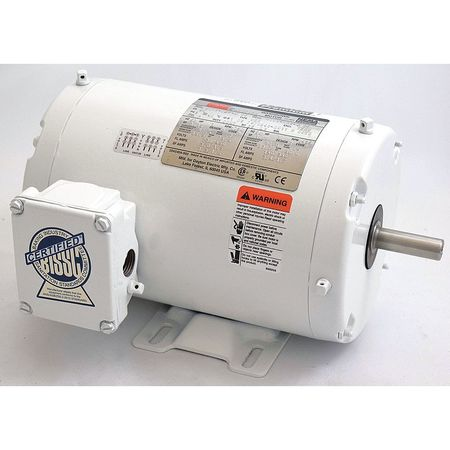 Washdown Motor, 3 Ph, TENV, 1 HP, 1750 rpm