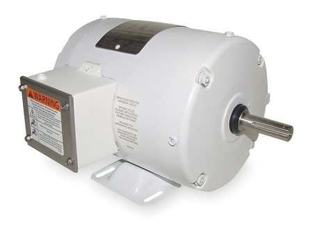 Washdown Motor, 3 Ph, TENV, 3/4 HP, 1725 rpm