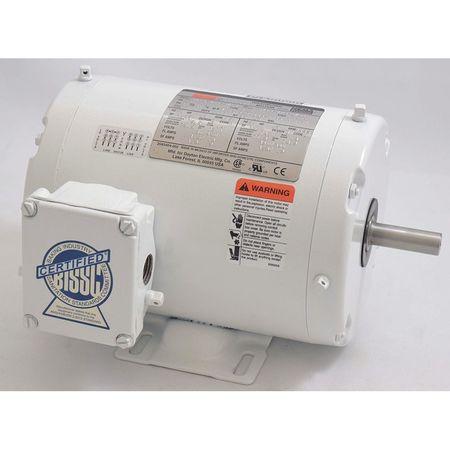 Washdown Motor, 3 Ph, TENV, 1/2 HP, 1750 rpm