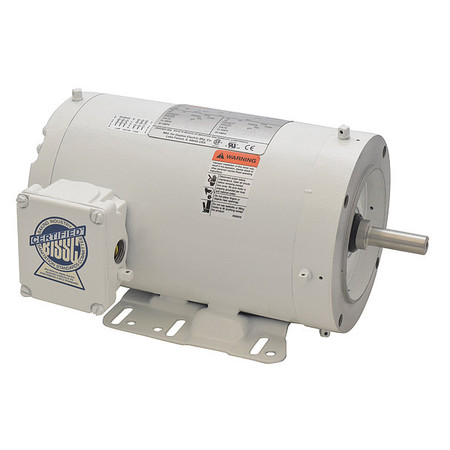 Washdown Mtr, 3 Ph, TENV, 1-1/2 HP, 3450 rpm