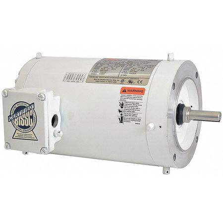 Washdown Mtr, 3 Ph, TENV, 1-1/2 HP, 3505 rpm