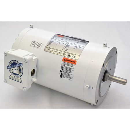 Washdown Mtr, 3 Ph, TENV, 1-1/2 HP, 3505 rpm