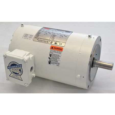 Washdown Motor, 3 Ph, TENV, 1 HP, 1725 rpm