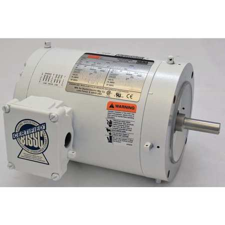 Washdown Motor, 3 Ph, TENV, 1/3 HP, 1725 rpm