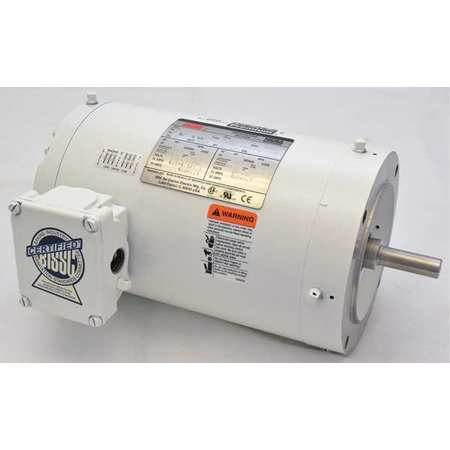 Washdown Mtr, 3 Ph, TENV, 1-1/2 HP, 1725 rpm