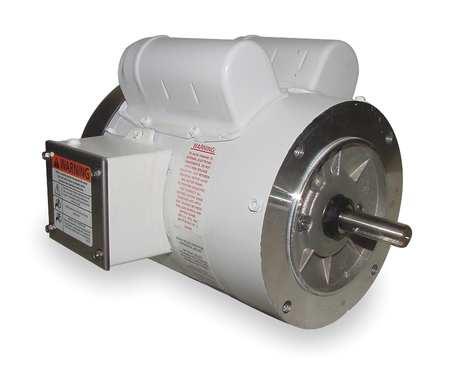 Washdown Mtr, Cap Strt, TEFC, 2 HP, 1740 rpm