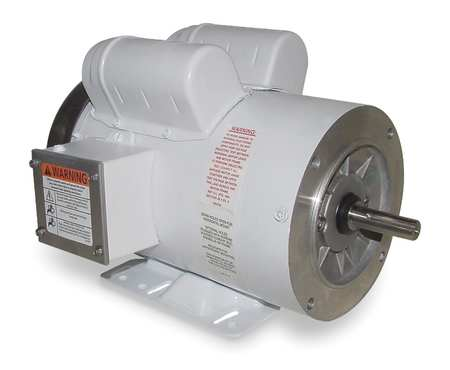 Capacitor-Start,  1 HP Washdown Motors,  TEFC
