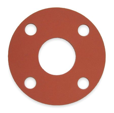 Gasket, Full Face, 3/4 In, SBR, Red