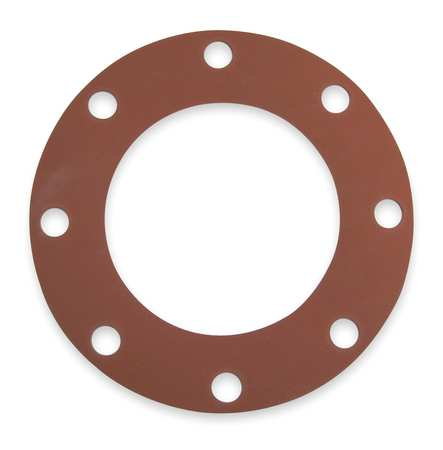 Gasket, Full Face, 6 In, 1/8 In Thick, SBR