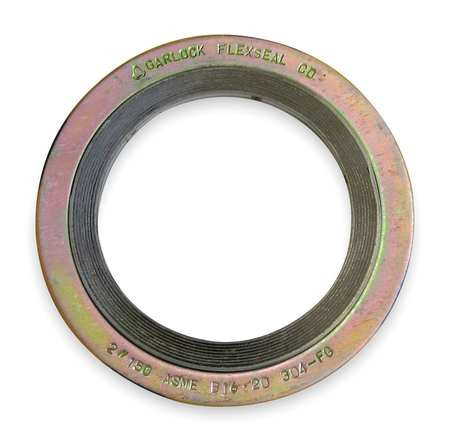 Gasket, Ring, 8 In, Metal, Yellow