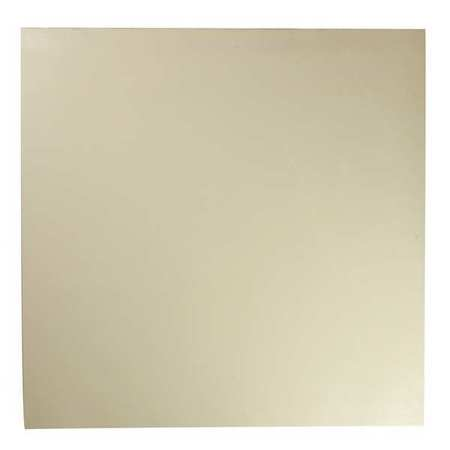 "1/4"" FDA Grade Buna-N Rubber Sheet,  12""x12"",  white,  60A"