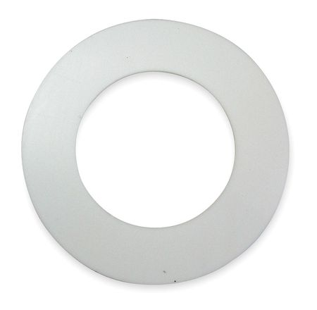 Gasket, Ring, 6 In, Virgin PTFE, White
