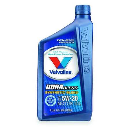 Valvoline durablend synthetic blend 5w 20 1 qt vv317 for Quart of motor oil