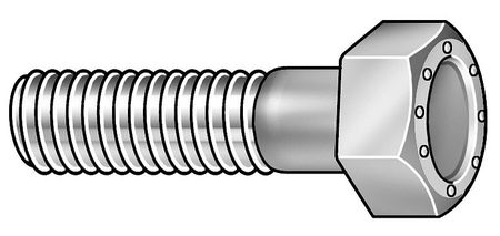 "1/2""-13 x 3-1/2"" Grade 9 Zinc Yellow UNC (Coarse) Hex Head Cap Screws,  25 pk."