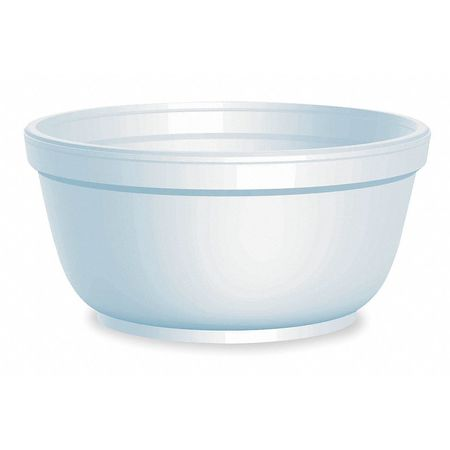 Bowl, Round, 12 fl. oz., Foam, PK1000