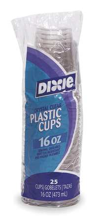 Disposable Cold Cup 16 oz. Clear,  Plastic,  Pk500
