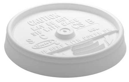 8 fl. oz. White Hot/ Cup Lid,  Flat,  Sip Through,  Pk1000