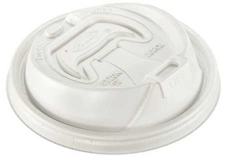 12 to 24 fl. oz. Hot/ Cup Lid,  Dome,  Reclosable,  Sip Through,  Pk1000