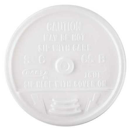 12 to 24 fl. oz. White Hot/ Cup Lid,  Flat,  Sip Through,  Pk1000