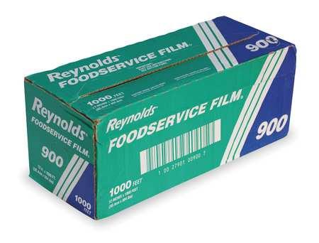 "Film Wrap, Plastic, Standard, 1000 ft., 12"""