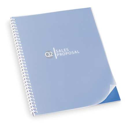 Binding Covers, Plastic, Frost, PK25