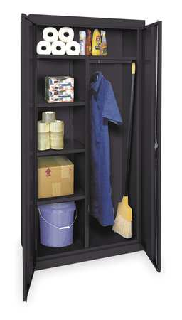 Comb Storage Cabinet, Blk, 78 In H, 36 In W