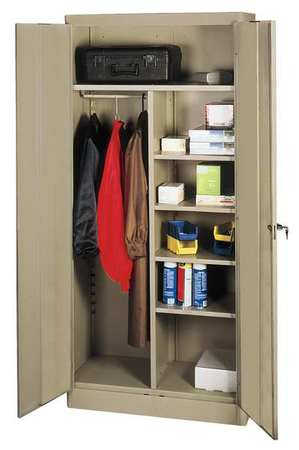 Combination Storage Cabinet, 72x36, Sand