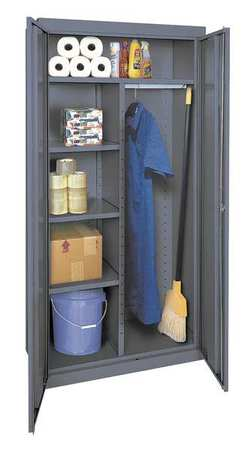 Combination Storage Cabinet, 78x36, Gray