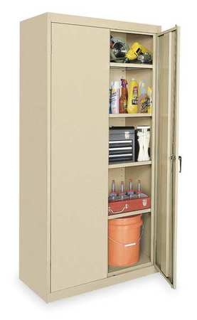Storage Cabinet, Sand, 72 In H, 36 In W