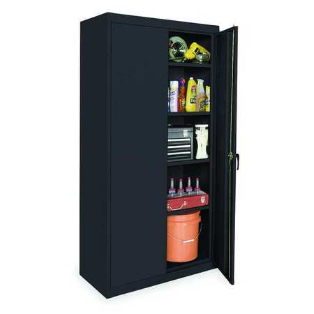 Storage Cabinet, Black, 72 In H, 36 In W