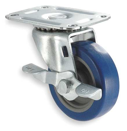 Swivel Plat Castr, Polyurthan, 5 in, 145 lb