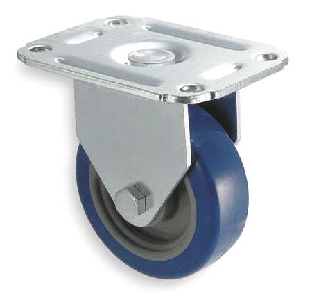 Rigid Plate Caster, Poly, 3 in., 125 lb.