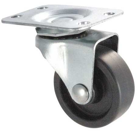 Swivel Plate Casters - Polyolefin Wheels